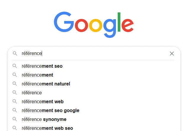 Outils de référencement Google - Google Suggest en bas de la barre de recherche